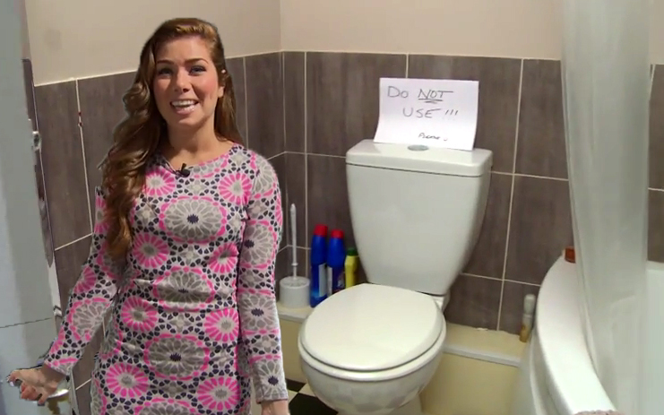 Poo-dunnit: Nikki Sanderson reveals someone has POOPED in a Hollyoaks prop loo