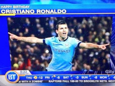 Canadian TV wishes Cristiano Ronaldo Happy 30th Birthday – with photo of Sergio Aguero