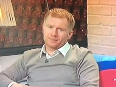 Former Manchester United star Paul Scholes can't resist calling Robbie Savage a 'kn*bhead' live on BT Sport during Premier League coverage
