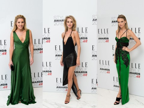 There was side-boob and plunging necklines a-plenty at the Elle Style Awards 2015