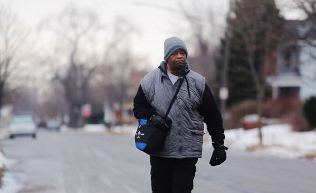 James Robertson is forced to make the epic walk each day due to poor bus links (Picture: AP)