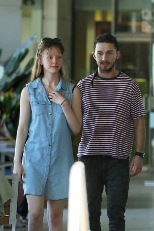 EXCLUSIVE: Shia LaBeouf still proudly sports his rattail braid as he spends the day with girlfriend Mia Goth in Los Angeles