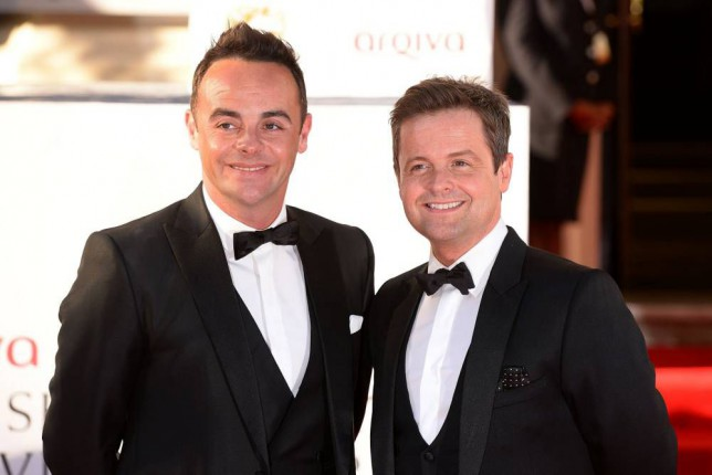 File photo dated 18/05/14 of Anthony McPartlin (left) and Declan Donnelly, as the How I Met Your Mother star Neil Patrick Harris is to step into the shoes of Ant and Dec by hosting a US version of ITV hit Saturday Night Takeaway. And it will mean a new cash bonanza for the Geordie duo, who created the show along with ITV Studios, after a deal was sealed with broadcaster NBC. Harris is on a roll after starring in screen hit Gone Girl as well as being announced as the host of next year's Oscars ceremony.     PRESS ASSOCIATION Photo. Issue date: Tuesday October 28, 2014.  See PA story SHOWBIZ Takeaway. Photo credit should read: Dominic Lipinski/PA Wire