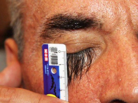 This man might have the longest eyelashes you've ever seen