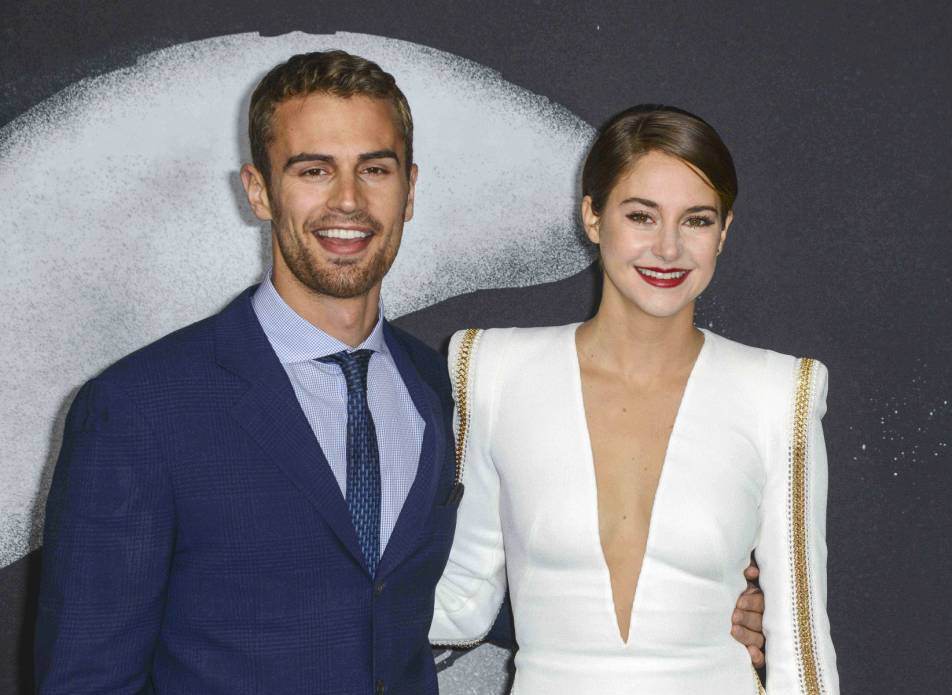 Theo James and Shailene Woodley  Insurgent Picture: Rex)