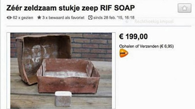 """Pic shows: Soap reportedly from Holocaust being sold online.nnDutch prosecutors have moved to stop the sale of a bar of soap from World War II which the seller claimed had been made using the fat from bodies of dead Jewish concentration camp victims.nnThe second sale was stopped as soon as it started to be shared online and went viral, with the asking price of EUR199.nnRumours apparently started by the British first surfaced in the middle of the war that the Nazis were mass-producing soap using the bodies of concentration camp victims. Although the mass production claim was almost certainly untrue, there is evidence that it had happened on a small scale at least during the early stages of World War II.nnThe Nazis are known to have plundered human bodies for products, with hair used to make felt and insulation for example, but the German scientists that are believed to have experimented with making soap from human fat had almost certainly stopped by SS-chief Heinrich Himmler who had ordered an investigation into the claims on Nov. 20, 1942.nnThe unnamed antiquities vendor who tried to sell the soap handed himself into police to answer questions after the auction was cancelled. He had also handed over the two bars of soap, which are now being examined to see if they do indeed contain traces of human remains.nnHistorian Arthur Haraf said the soap was one of a number of items found near a Dutch concentration camp, from which Dutch Jews were sent to extermination camps. Westerbork was a Nazi refugee, detention and transit camp in Hooghalen, ten kilometers north of Westerbork, in the northeastern Netherlands.nnThe other items had been dentures, tooth brushes and glasses, which he claimed were taken from the Jews at the concentration camp.nn""""This is a terrible act and against the law,"""" said Haraf. """"Whatever is found near the concentration camp and belongs to the events of World War II automatically becomes property of the Westerbork Memorial Museum.""""nnJewish organizations """