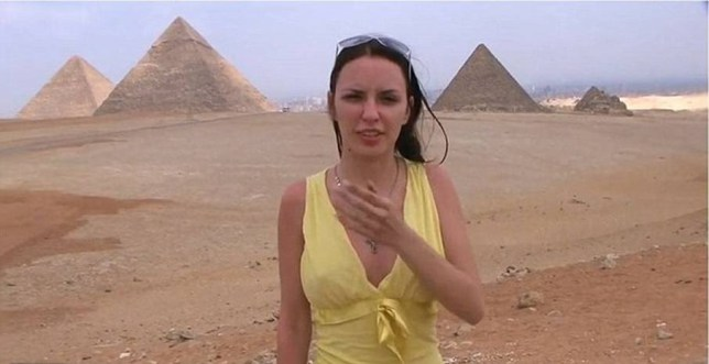 Egyptian authorites have launched an investigation after a European porn star filmed a graphic movie while visiting the pyramids.  The porn star flashes parts of her body repeatedly while on a coach trip to the tourist destination.  Speaking to the camera, the woman called Aurita complains about the views.
