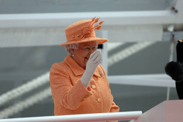 Queen Elizabeth II officially names P&O's new cruiser liner Britannia. PRESS ASSOCIATION Photo. Picture date: Tuesday March 10, 2015. For more than four decades the name Britannia was synonymous with the royal yacht, which she launched just weeks before her Coronation in 1953. It was decommissioned in 1997. See PA story SEA Britannia. Photo credit should read: Steve Parsons/PA Wire