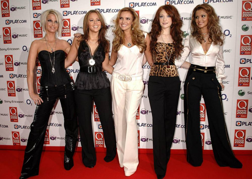 Girls Aloud arrive for the Q Awards 2006, at the Grosvenor House Hotel in central London.