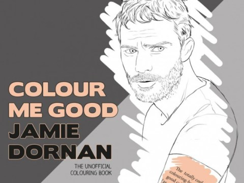 Fifty Shades Of Red, Blue and Yellow? Jamie Dornan has been recreated in colouring book form