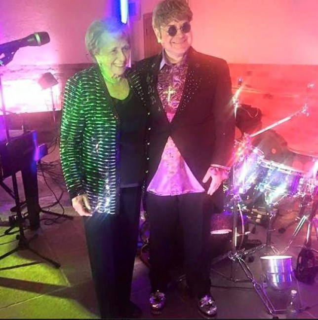 SIR Elton John's mum went all out for her 90th birthday by booking a lookalike of her son and 'Ultimate Elton' even got to sing a duet with the REAL Kiki Dee.....Family and friends gathered round Sheila Farebrother on the dance floor as copycat artist Paul Bacon brought some magic to the converted barn.....Popstar Kiki, 68, took to the stage to join him in singing her and Elton's 1976 No1 single Don't Go Breaking My Heart.