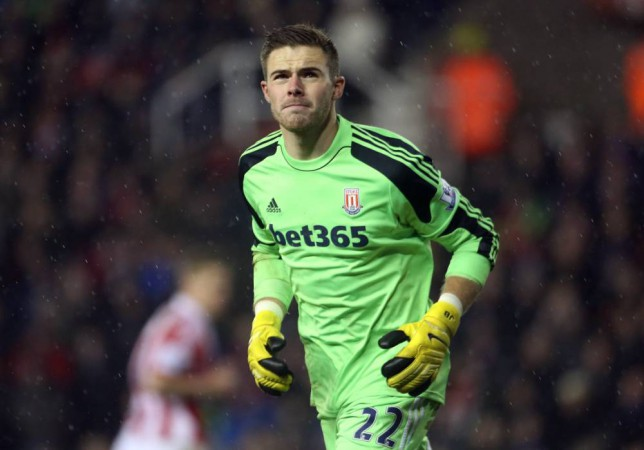 File Photo: Jack Butland has signed a contract extension with Stoke. Jack Butland, Stoke City ... Soccer - Barclays Premier League - Stoke City v Liverpool - Britannia Stadium ... 12-01-2014 ... Stoke ... United Kingdom ... Photo credit should read: Lynne Cameron/EMPICS Sport. Unique Reference No. 18680439 ...