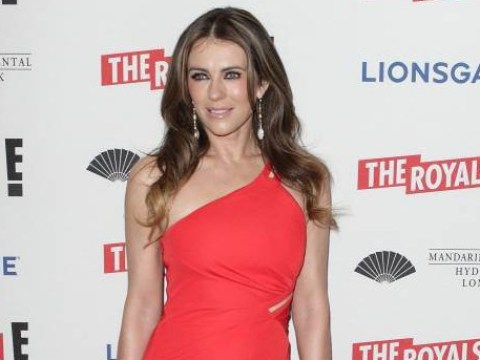 Is this the sexiest Christmas card ever? Liz Hurley is really getting into the festive spirit