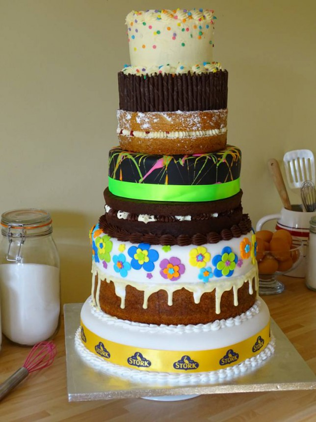 Cool Mary Berrys Eight Tiered Birthday Cake Is Making Us Just A Little Funny Birthday Cards Online Alyptdamsfinfo
