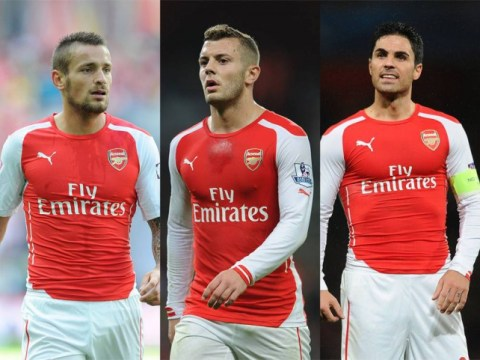 Arsenal boosted ahead of Liverpool clash as Jack Wilshere, Mikel Arteta and Mathieu Debuchy return to training