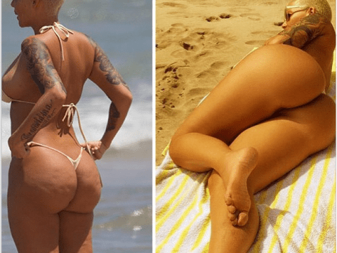'Yaaaaaas dimples on the booty!': Amber Rose defends airbrushing pics of her naked bum