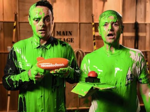 A taste of their own medicine? Pranksters Ant and Dec 'slimed' at Nickolodeon Kids' Choice Awards