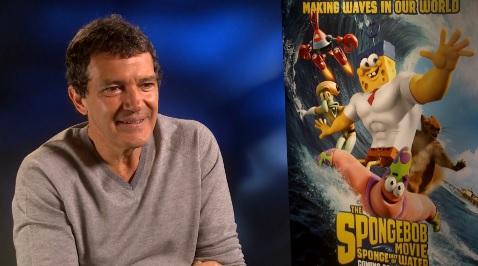 EXCLUSIVE: Antonio Banderas has some pretty profound things to say about Spongebob Squarepants