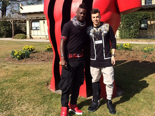 Mario Balotelli spotted with Liverpool transfer target Stephan El Shaarawy