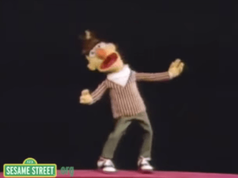 Sesame Street's Bert has done a cover of Hollaback Girl