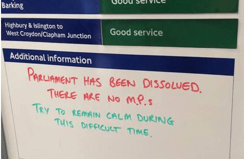 TfL wants you to know that the world is ending but it's okay