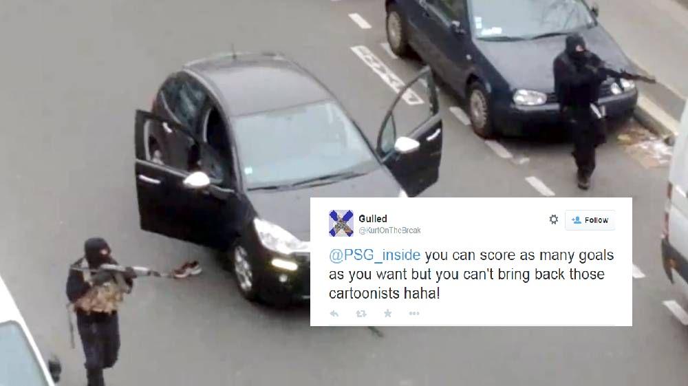 Chelsea fan's sick tweet mocks Charlie Hebdo massacre