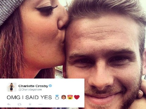 'OMG I SAID YES!': Geordie Shore's Charlotte Crosby is ENGAGED to boyfriend as Mitch Jenkins proposes