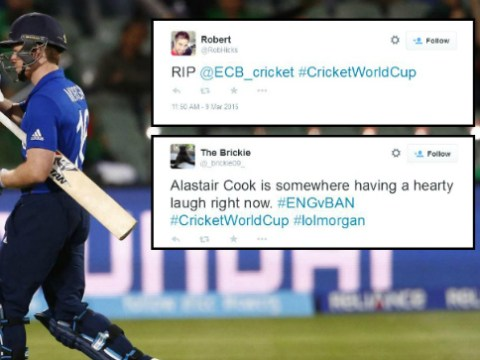 'RIP England!' Twitter gives brutal reaction to England's Cricket World Cup 2015 exit to Bangladesh