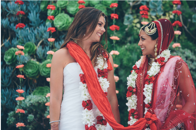 Vibrant Pictures Capture Americas First Indian Lesbian Wedding