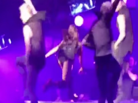 Ariana Grande takes a tumble on stage mid-performance, makes flawless recovery