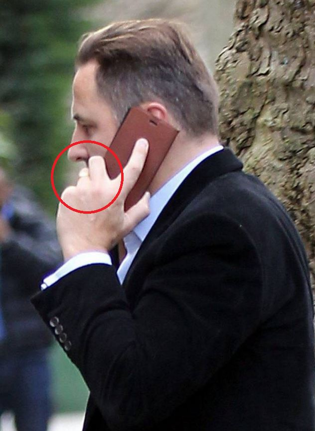 David Walliams still wearing his wedding ring as he is pictured for first time since 'split' from wife Lara Stone