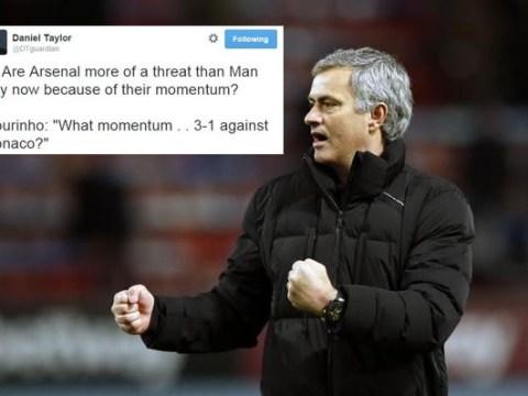 Chelsea manager Jose Mourinho trolls Arsenal again over title talk