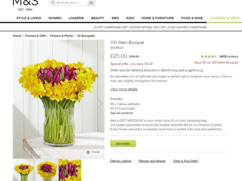 Marks & Spencer slammed after courier firm fails to deliver Mother's Day flowers on time
