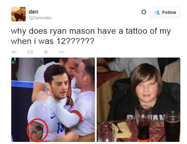 Ryan Mason reveals arm tattoo during England v Italy, it looks like a 12-year-old boy