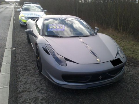 'No licence no #Ferrari'- Police seize supercar due for not having a licence plate