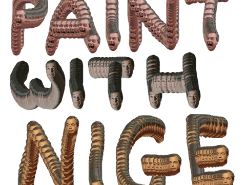 Paint with Nigel Farage is a great way to kill time
