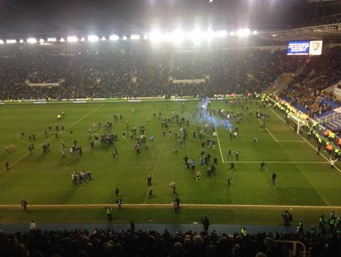 Reading stage most timid pitch invasion ever after FA Cup win over Bradford