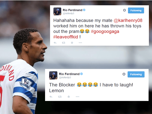Rio Ferdinand joins Twitter spat between Stan Collymore and Karl Henry