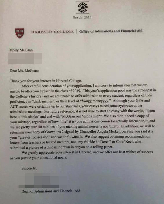 accepted college essays