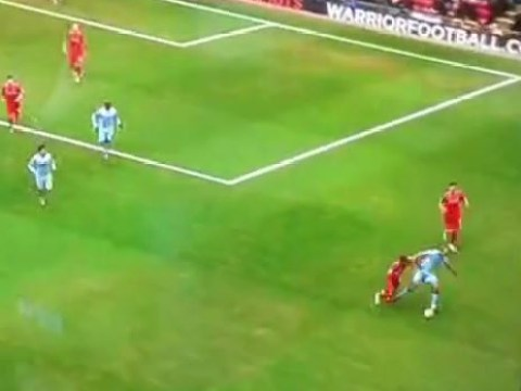 Liverpool's Raheem Sterling proves he should be 99 strength on FIFA by bullying Vincent Kompany off the ball