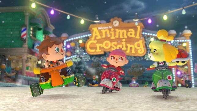 Animal Crossing X Mario Kart 8 (Wii U) - kart d'or