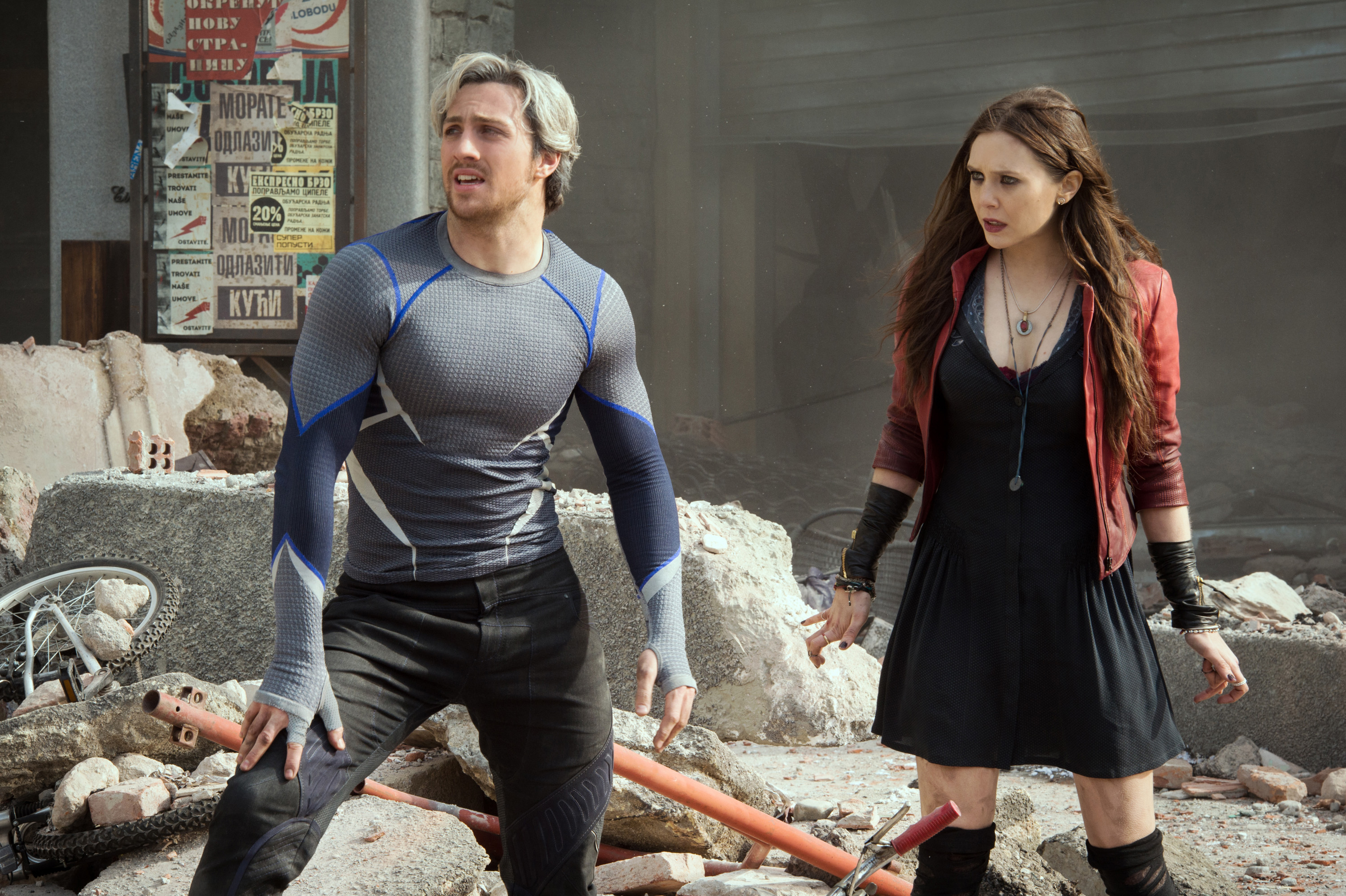 Aaron Taylor-Johnson appeared as Quicksilver in Avengers: Age of Ultron (Picture: Marvel)
