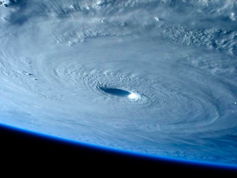 Super-typhoon Maysak as seen from the International Space Station