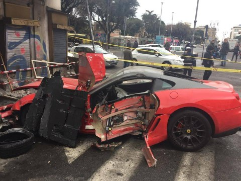 Valet writes off £300,000 Ferrari after mistaking accelerator for brake