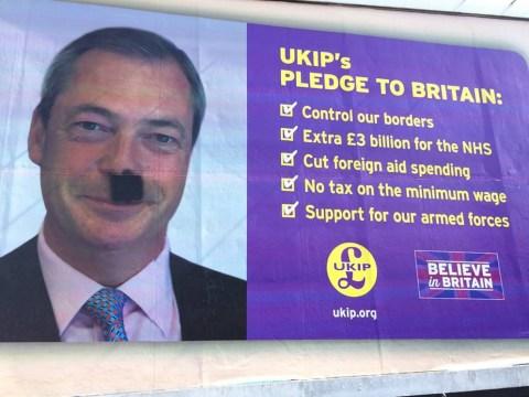 Nigel Farage got Hitlered (or Charlie Chaplined)