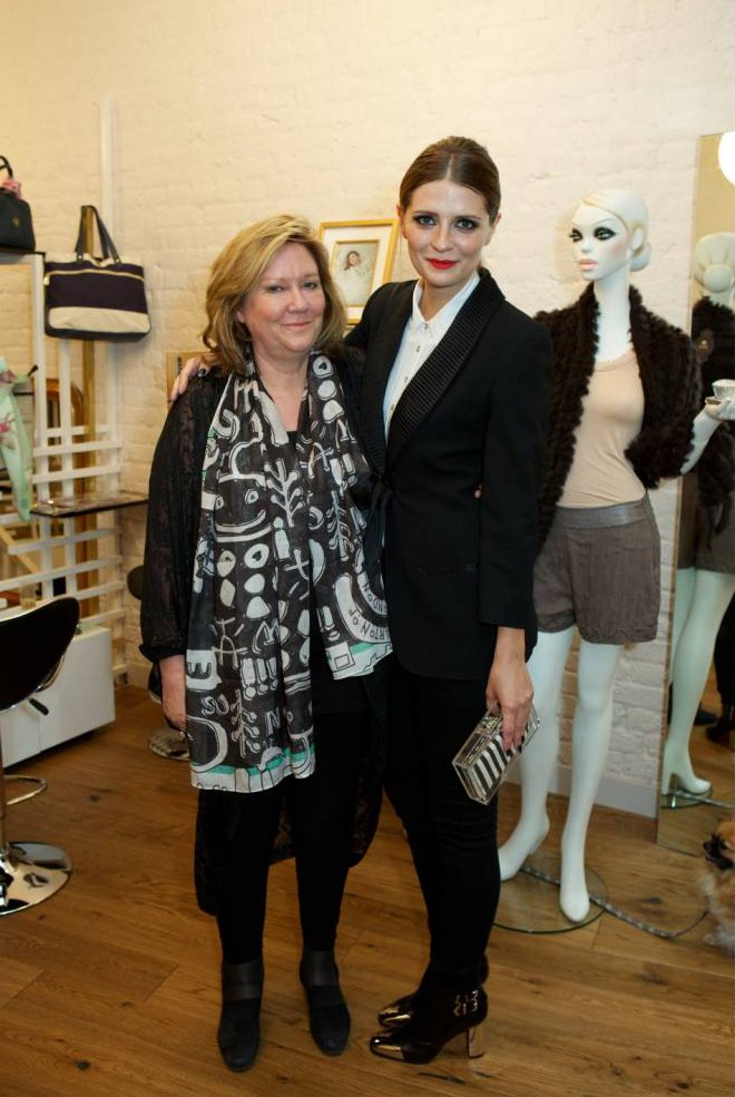Mandatory Credit: Photo by Marcus Dawes/REX Shutterstock (1814705v)  Mischa Barton and her mother  Mischa Barton boutique launch, London, Britain - 8 Aug 2012