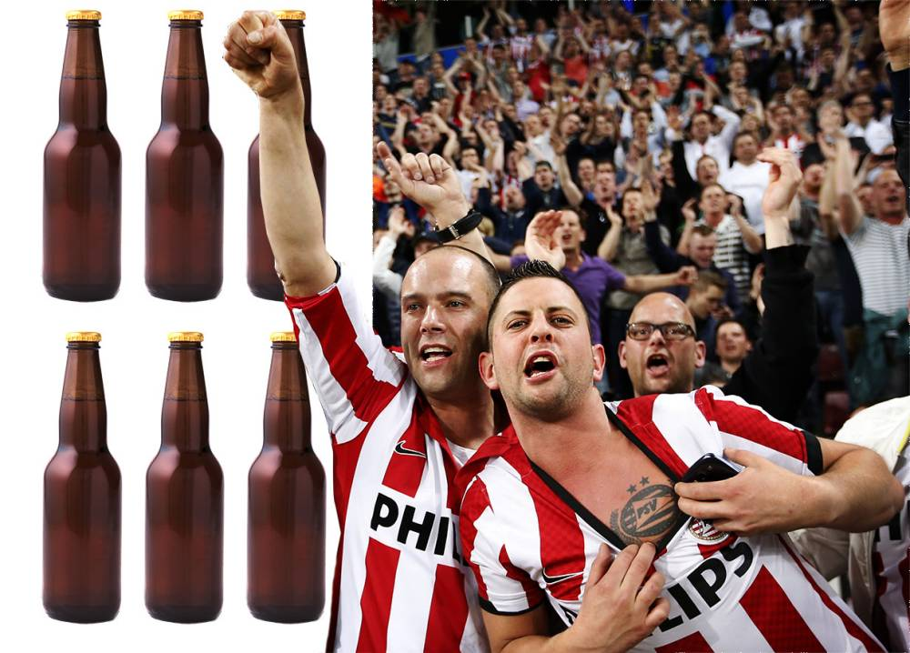PSV Eindhoven fans offer beer to opponents to help club win first Eredivisie title in seven years