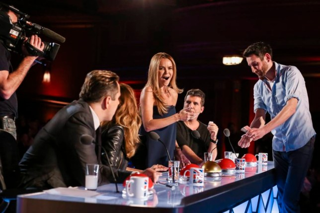 *** MANDATORY BYLINE TO READ: Syco / Thames / Corbis ***<BR /> 'Britain's Got Talent' contestants are seen on stage for the second show of the 2015 ITV series airing Saturday April 18th. <P> Pictured: Jamie Raven <B>Ref: SPL1002942  190115  </B><BR /> Picture by: Dymond / Syco / Thames / Corbis<BR /> </P><P>