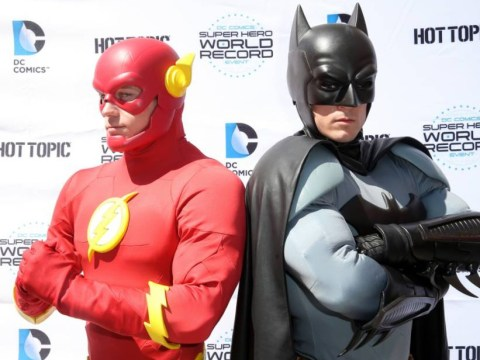 How many Batmans can you see? Comic book fans aim to break 'superhero' record across the world