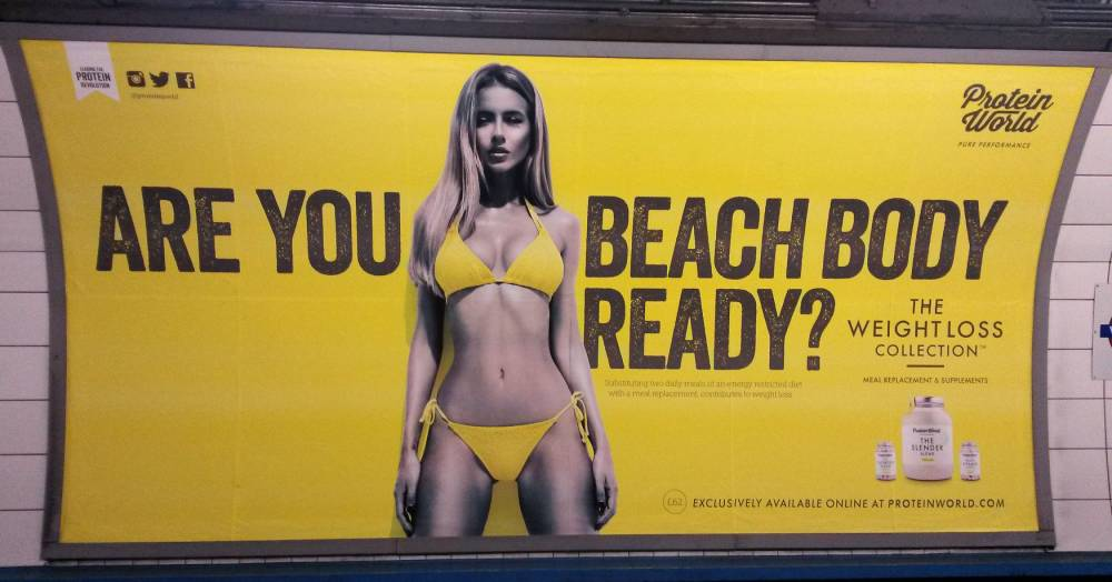 That Protein World advert 'will no longer appear in its current form', ad watchdog rules